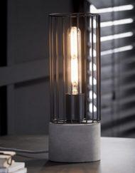 Tafellamp betonnen voet zwart frame
