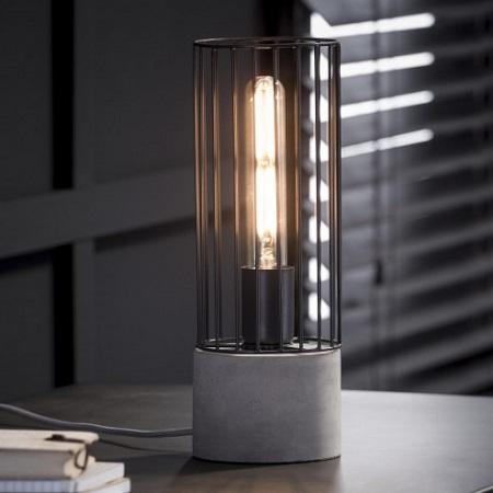 Super Tafellamp met betonnen voet Blockdesign &WQ68