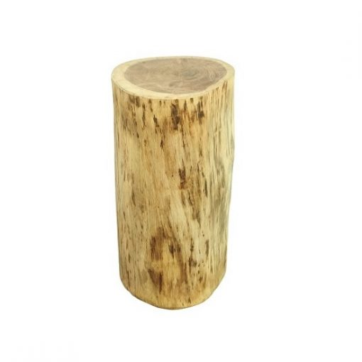 Bijzettafel boomstam rond hout acacia