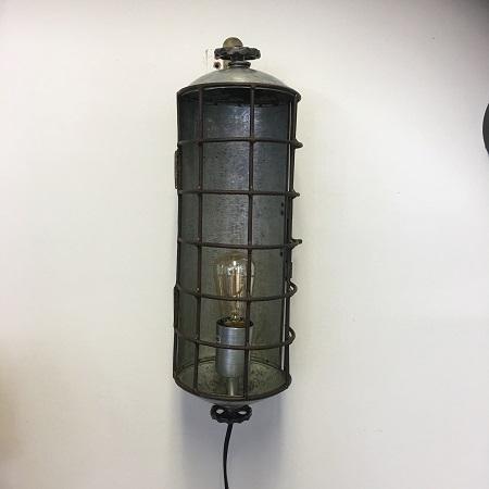 Industriele wandlamp metaal stoer