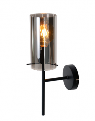 Wandlamp glazen kap grijs