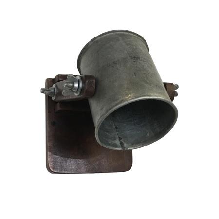 Wandlamp industrieel kap metaal