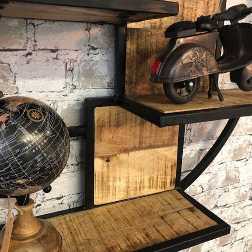 Metalen wandrek vintage stoer