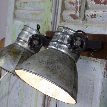 Plafondlamp 3 spots industriële