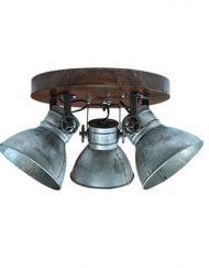 Plafondlamp industrieel drie spots