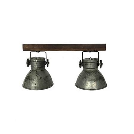 Plafondlamp twee spots industriële