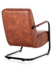 Cognac fauteuil luxe Cherokee stof
