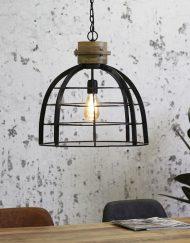 Hanglamp industrieel zwart stoer