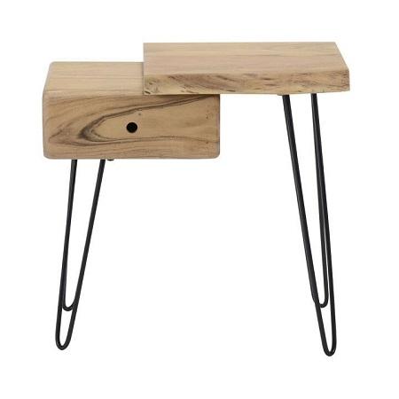Nachtkastje hout boomstam vorm