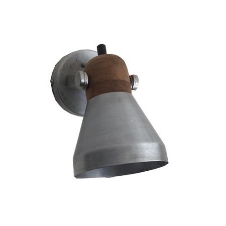 Wandlamp spot metaal grijs