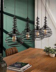 Hanglamp industrieel vier kappen
