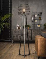 Zwarte vloerlamp metaal stoer