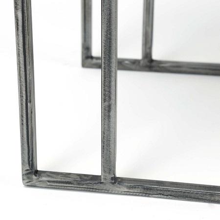 Bijzettafel laptoptafel vintage metaal staal