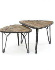 Industriele salontafel robuust hout