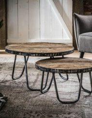 Stoere robuuste salontafel set