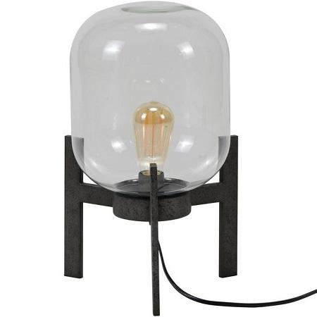 Tafellamp glazen stolp helder