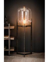 Vloerlamp glazen stolp helder stoer