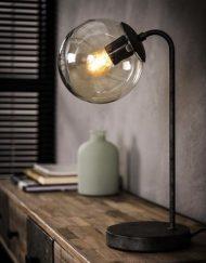 Tafellamp ronde glazen bol industriele