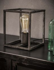 Tafellamp vierkant stoer metaal industrieel