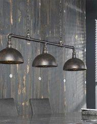 Industriële hanglamp metalen kappen