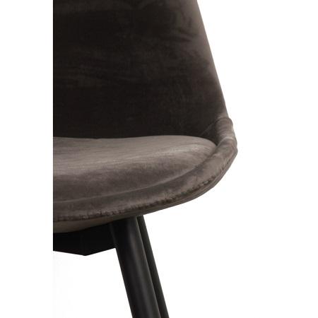 Barkruk grijs fluweel set van 2 velvet stof