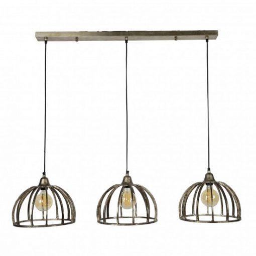 Eettafel lamp industrieel metaal 3 kappen