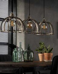 Eettafel lamp industrieel metaal rond
