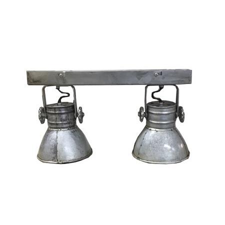 Wandlamp industrieel met spots