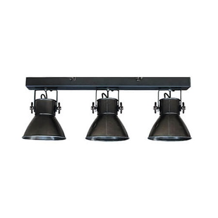 Wandlamp industrieel met spots zwart stoer