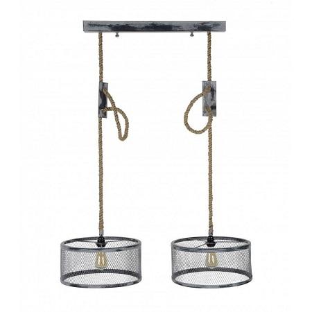 Industriele hanglamp met verstelbaar touw