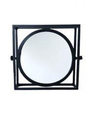 Kantelbare spiegel vierkant zwart