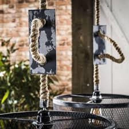 Hanglamp Met Touw.Industriele Hanglamp Met Verstelbaar Touw Blockdesign
