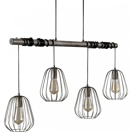 Eettafel hanglamp industrieel metaal stoer