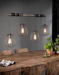 Eettafel hanglamp industrieel metaal