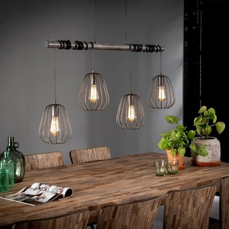 Eettafel hanglamp industrieel vintage