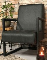 Fauteuil antraciet eco leather