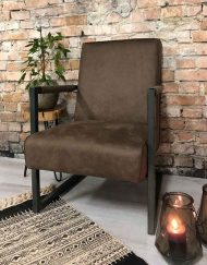 Fauteuil bruin eco leather