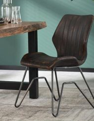 Stoel vintage w-frame bruin