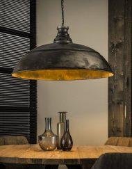 Grote metalen industriële hanglamp 80 cm