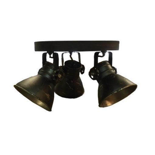 Plafondlamp woonkamer industrieel zwart