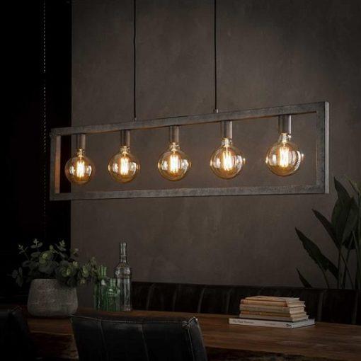 Hanglamp woonkamer rechthoek industrieel
