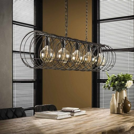 Hanglamp woonkamer zwart industrieel