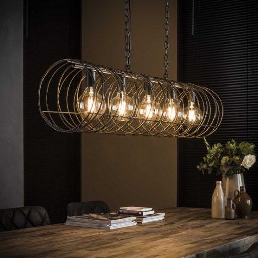 Hanglamp woonkamer zwart stoer