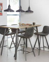 Bartafel rechthoekig hout of beton