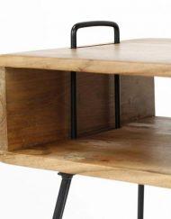Haltafel vintage zwart frame stoer