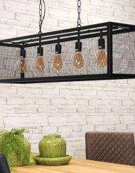 Hanglamp zwart industrieel rechthoek 5L