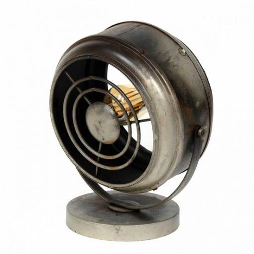 Tafellamp industrieel rond metaal