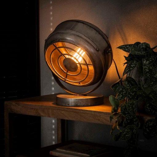 Tafellamp industrieel rond metalen