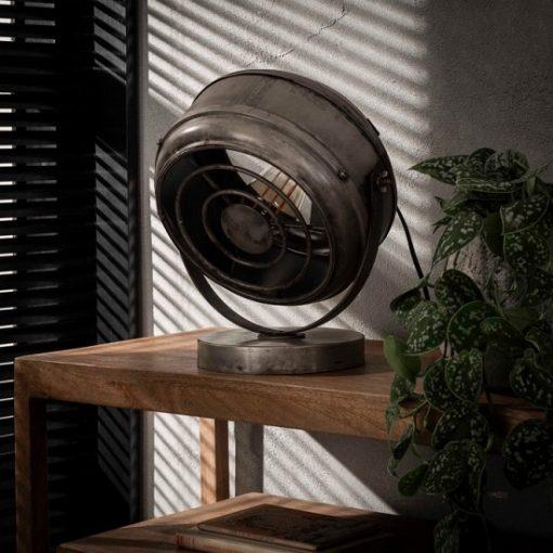 Tafellamp industrieel rond stoer