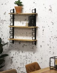 Wandplank industrieel metaal hout plank